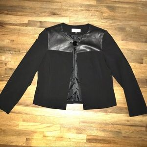 COPY - Black and leather cocktail  blazer